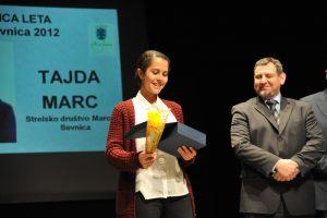Tajda Merc - športnica leta 2012 občine Sevnica