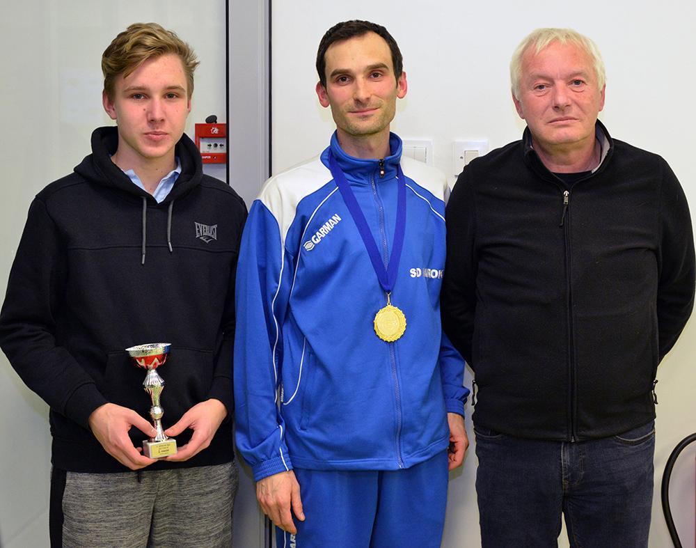 ekipa SD Marok 2. Z leve Mitja Janc, Matej Kolman in Jani Košir.